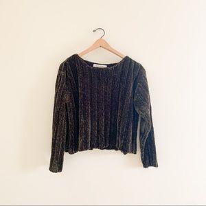 Vintage Jones New York Chenille Boxy Crop Sweater
